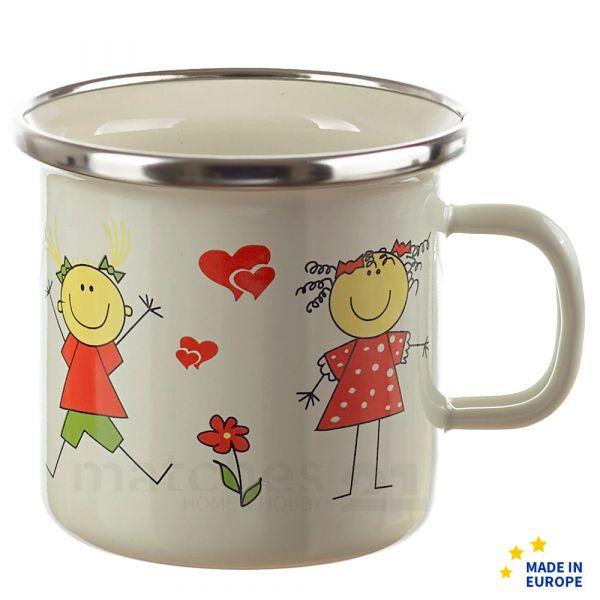 Email Becher Trinkbecher für Kinder / Mädchen Kindergeschirr 7x7 cm / 200 ml