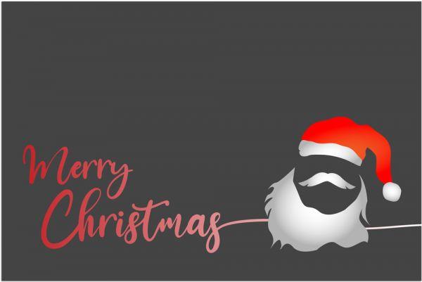 Fußmatte Fußabstreifer DECOR Merry Christmas & Weihnachtsmann waschbar 40x60 cm
