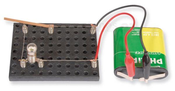 Einfacher Stromkreis Bausatz Kinder Werkset Bastelset Lernspiel - ab 9 Jahren