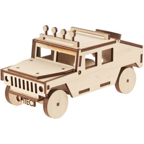 Geländewagen Hummer Jeep 3D Steckbausatz Bastelset für Kinder ab 8 Jahren