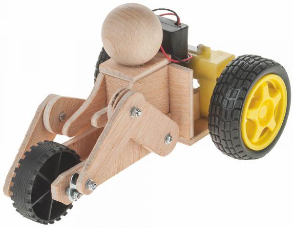Dreirad Bausatz Holz & Elektro Getriebemotor Bastelset für Kinder ab 12 Jahre