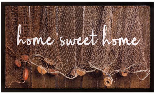 Fußmatte Fußabstreifer Decor & Rand Home sweet Home Netz waschbar - 45x75 cm