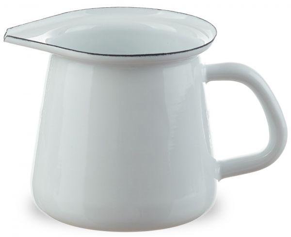 Email Kännchen Milch / Sahne Nostalgie Geschirr Retro weiß Ø 9 cm 400 ml