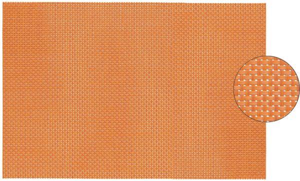 Tischset Platzset ELEGANCE orange gewebt 1 Stk. abwaschbar 45x30 cm Kunststoff