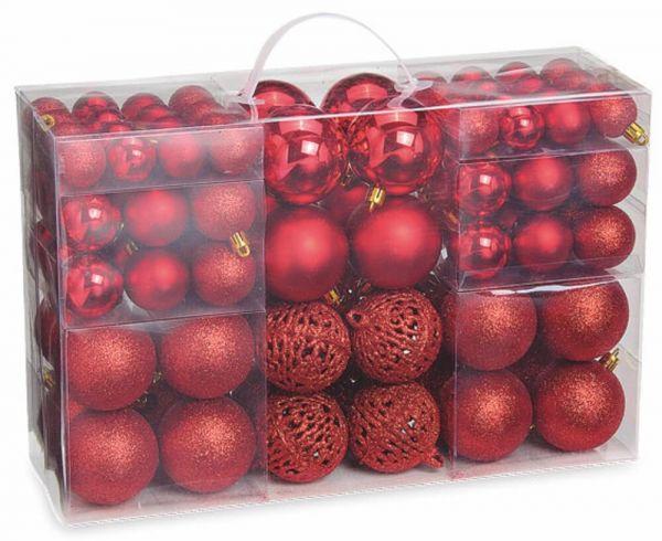 Christbaumkugeln Weihnachtskugeln – 100er Set Kunststoff div Größen – 9 Farben