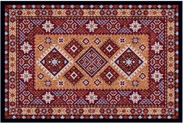 Fußmatte Fußabstreifer DECOR Ornamente Orientalisch rot braun waschbar 40x60 cm