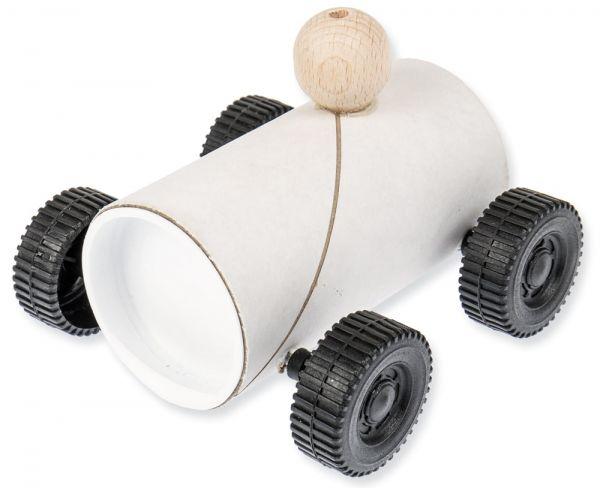 Auto Rennauto Bastelset Kartonrollen Kreativset zum Bemalen für Kinder ab 6 Jahren