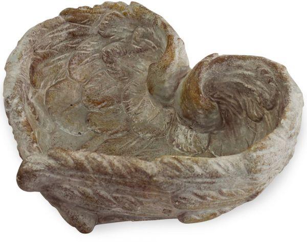Flügel Herz Pflanzschale Flügelherz Pflanzgefäß grau Zement 1 Stk 18,5x18,5x8 cm