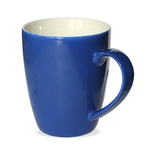 Tasse Becher Kaffeebecher blau dunkelblau B-WARE 1 Stk 350 ml Porzellan