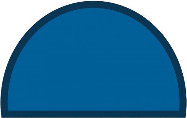 Fußmatte Fußabstreifer UNI einfarbig rutschfest 50x80 cm halbrund Farbe blau