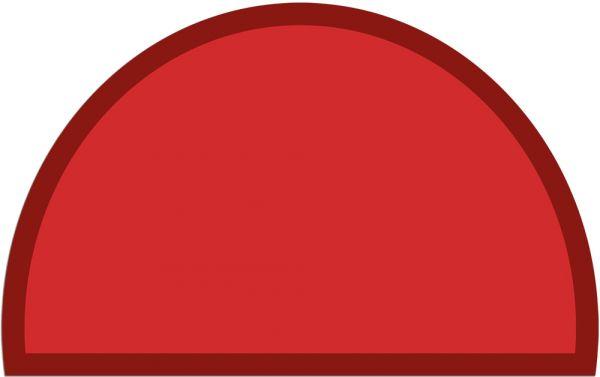 Fußmatte Fußabstreifer UNI einfarbig rutschfest 50x80 cm halbrund Farbe rot