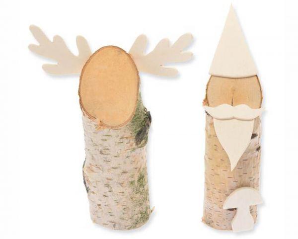 Wichtel & Rentier Holz Bastelset Bausatz 2er Set für Kinder ab 7 Jahren