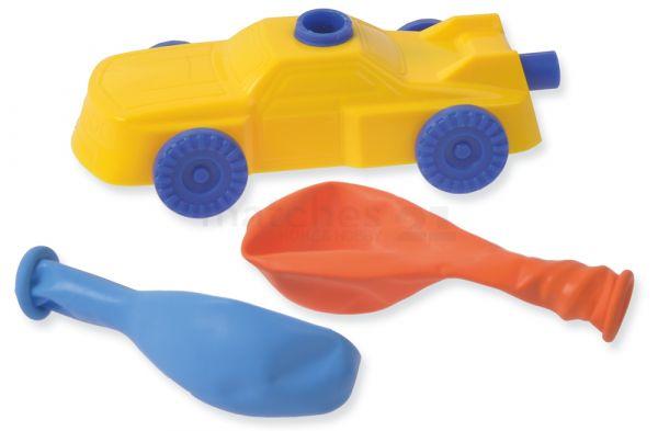 Luftballonauto / Luftballon Rennauto Bausatz Kinder Bastelset - ab 6 Jahren
