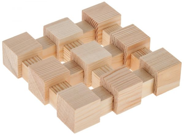 Topfuntersetzer Holz Bausatz Holzbausatz Werkset Bastelset für Kinder ab 6 Jahren