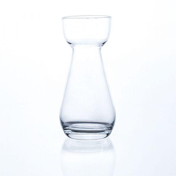 Blumenvase Vase Dekovase Glas Trompetenform hot cut 1 Stk. Ø 7x17 cm