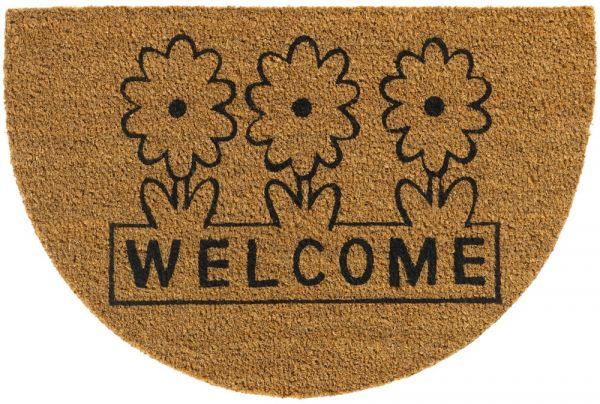 Bio Kokosmatte Indoor Fußmatte natürliche Latexbeschichtung Welcome - 40x60 cm