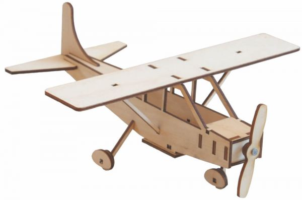 Flugzeug Cessna Flieger Holz Bausatz Bastelset vorgefertigt Kinder ab 8 Jahre