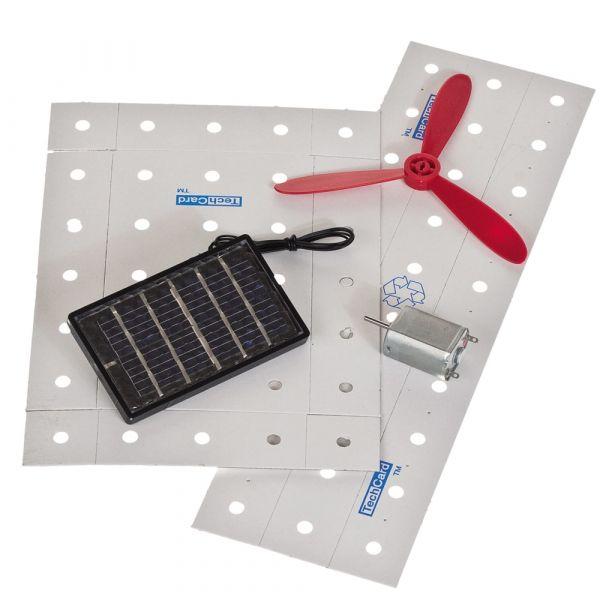 Solar-Windrad Funktionsmodell Karton Kinder Bausatz Werkset Bastelset ab 10 J.