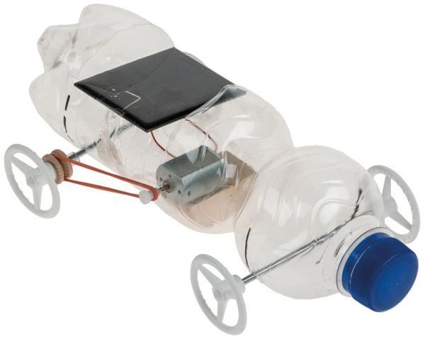Recycling Solar Auto Riemen-Antrieb Bausatz f Kinder Werkset Bastelset ab 10 J.