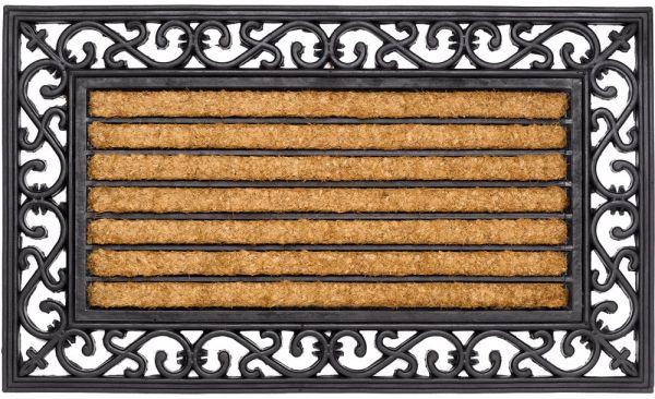 Fußmatte Fußabstreifer Kokos In- & Outdoor Gummirand 45x75 cm rutschfest