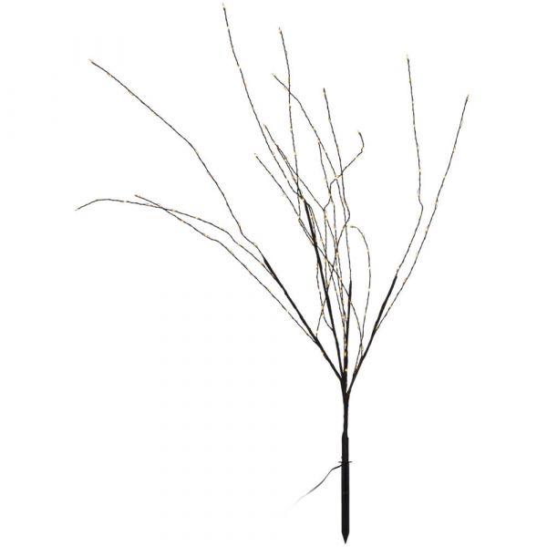 LED Baum / Strauch warmweiß beleuchtete Gartendeko formbar Erdspieß 45x90 cm