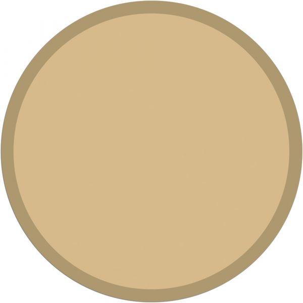 Fußmatte Türmatte Teppich UNI einfarbig rutschfest Ø 95 cm rund Farbe beige