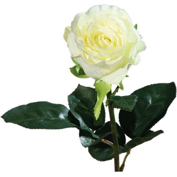 Rose Equador Kunstblume Stielrose Kunstpflanze Blüte 51 cm 1 Stk creme weiß