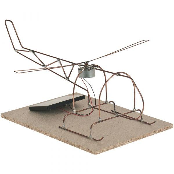Solar Hubschrauber Helikopter Bausatz für Kinder Bastelset ab 12 Jahren