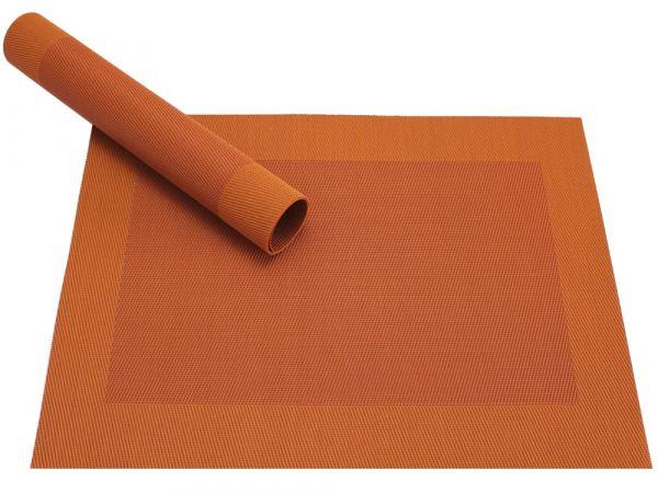 Tischset Platzset BORDA B-WARE orange 1 Stk.Kunststoff gewebt abwaschbar